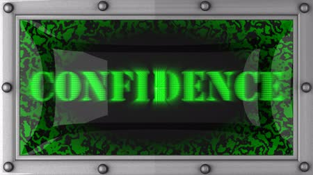 confiança : confidence  announcement on the LED display
