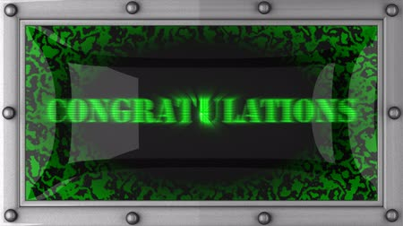 Поздравляю : congratulations  announcement on the LED display
