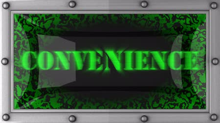 conveniente : convenience  announcement on the LED display Stock Footage