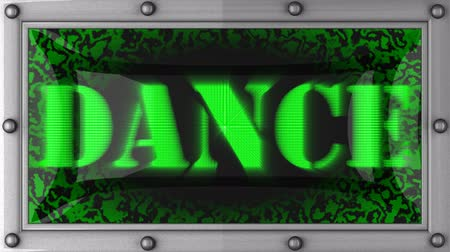 неон : dance  announcement on the LED display