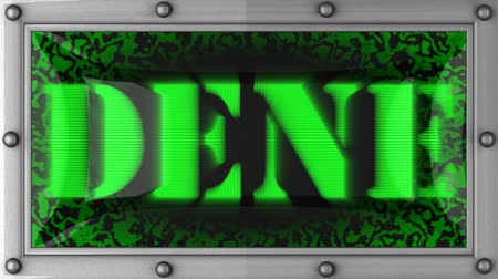 dene : dene  announcement on the LED display
