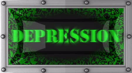 depressão : depression  announcement on the LED display