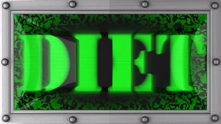 диета : diet  announcement on the LED display