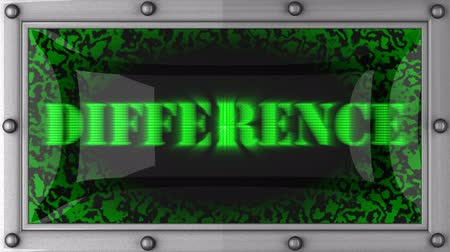 diferença : difference  announcement on the LED display