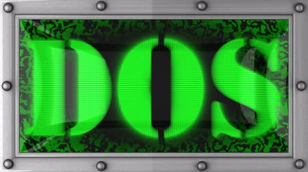 текст : dos  announcement on the LED display