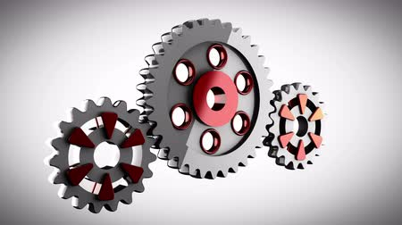 fogaskerék : Gear wheels rotate Stock mozgókép