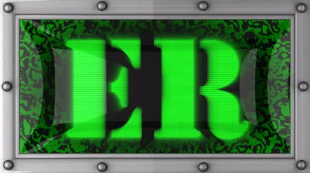 ér : ER  announcement on the LED display