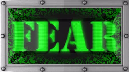 medo : fear  announcement on the LED display Vídeos
