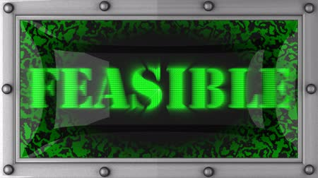 feasible : feasible  announcement on the LED display