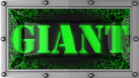 gigante : giant   announcement on the LED display