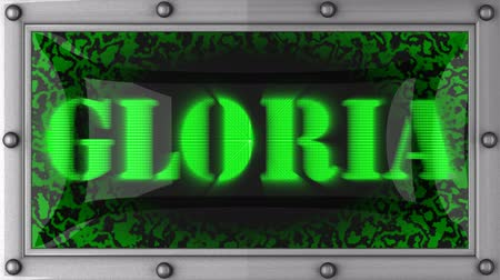 gloria : Gloria   announcement on the LED display Stock Footage