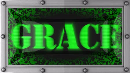 благодать : grace   announcement on the LED display