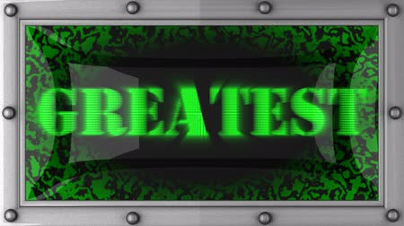 greatest : greatest   announcement on the LED display