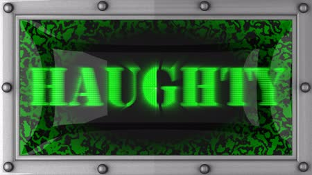 haughty : haughty  announcement on the LED display