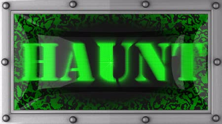 assombro : haunt  announcement on the LED display