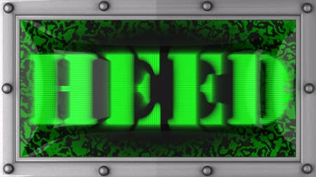 önemseme : heed  announcement on the LED display
