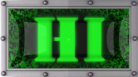 olá : hi  announcement on the LED display