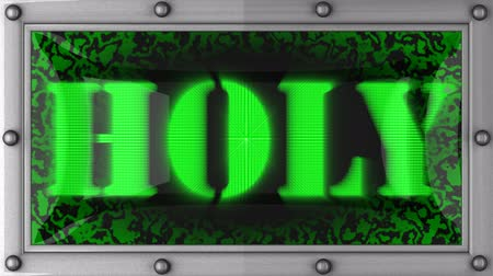 santo : holy  announcement on the LED display Stock Footage