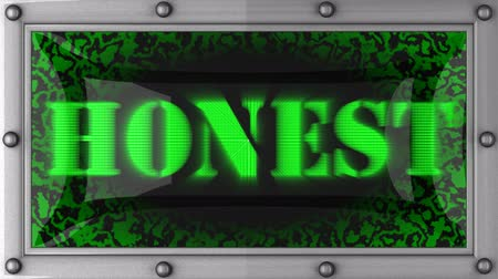 honesto : honest announcement on the LED display Vídeos