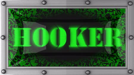 hooker : hooker  announcement on the LED display