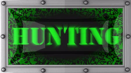 av : hunting  announcement on the LED display