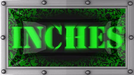 palce : inches  announcement on the LED display