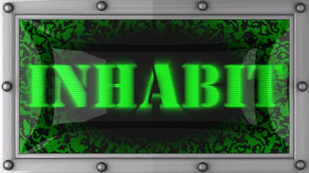 habitação : inhabit  announcement on the LED display