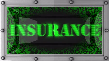 pojistka : insurance  announcement on the LED display