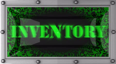 inventário : inventory  announcement on the LED display