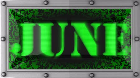 junho : June  announcement on the LED display