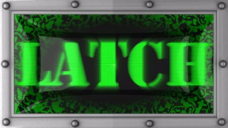 защелка : latch  announcement on the LED display