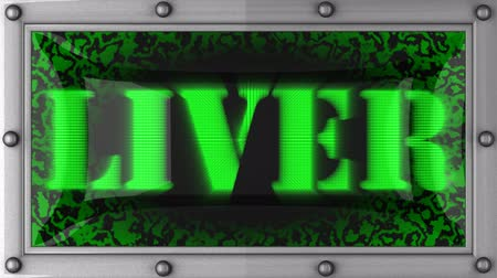 karaciğer : liver  announcement on the LED display Stok Video