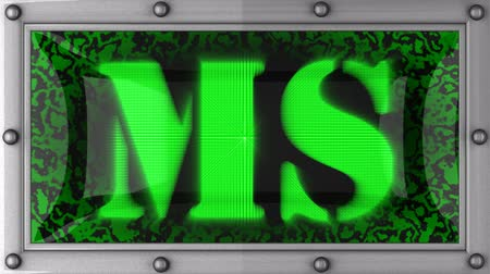 mês : ms announcement on the LED display Stock Footage