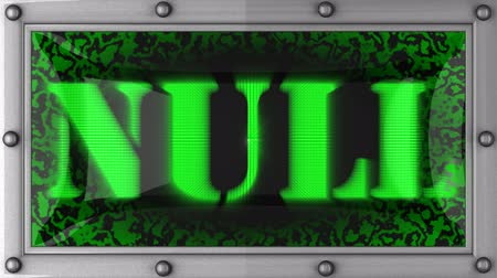 boş : null  announcement on the LED display