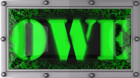 dever : owe  announcement on the LED display Vídeos