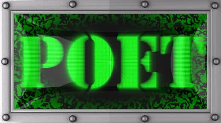 poeta : poet announcement on the LED display