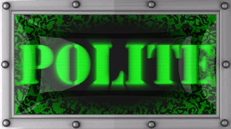 cortes : polite announcement on the LED display Vídeos