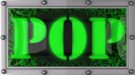figuras : pop announcement on the LED display