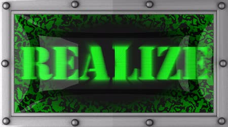 осуществлять : realize   announcement on the LED display