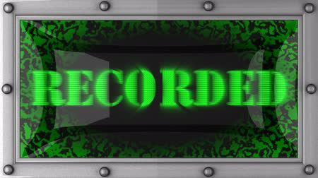 gravado : recorded  announcement on the LED display Stock Footage