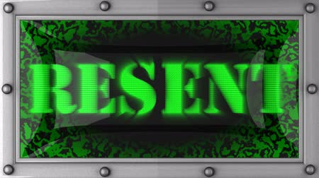 resent : resent  announcement on the LED display Stock Footage