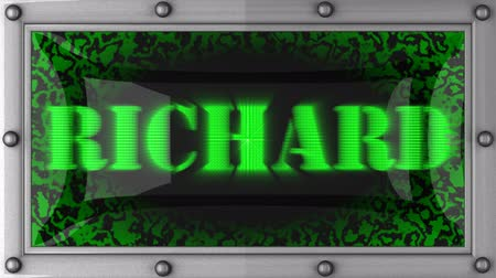richard : Richard  announcement on the LED display