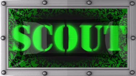 scout : scout  announcement on the LED display