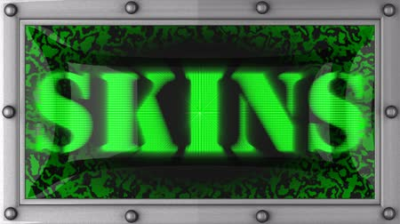 skins : skins  announcement on the LED display