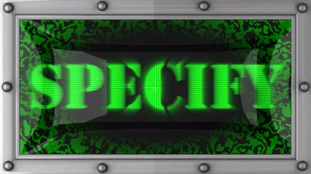 belirtmek : specify  announcement on the LED display Stok Video