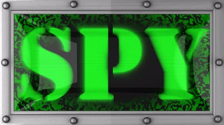 espião : spy  announcement on the LED display