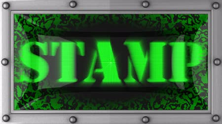 pul : stamp  announcement on the LED display Stok Video