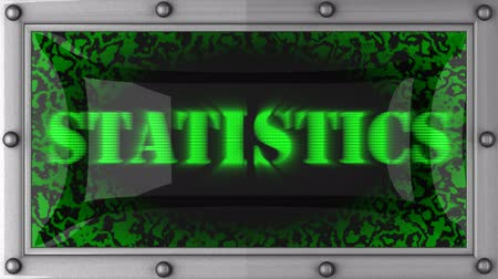 statistic : statistics  announcement on the LED display Stock Footage