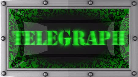 telegrafo : annuncio di telegrafo sul display LED