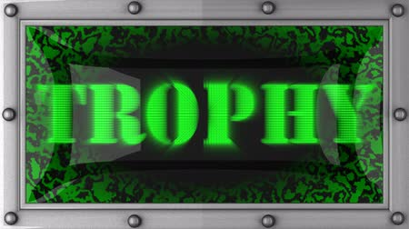 trofej : trophy  announcement on the LED display Dostupné videozáznamy